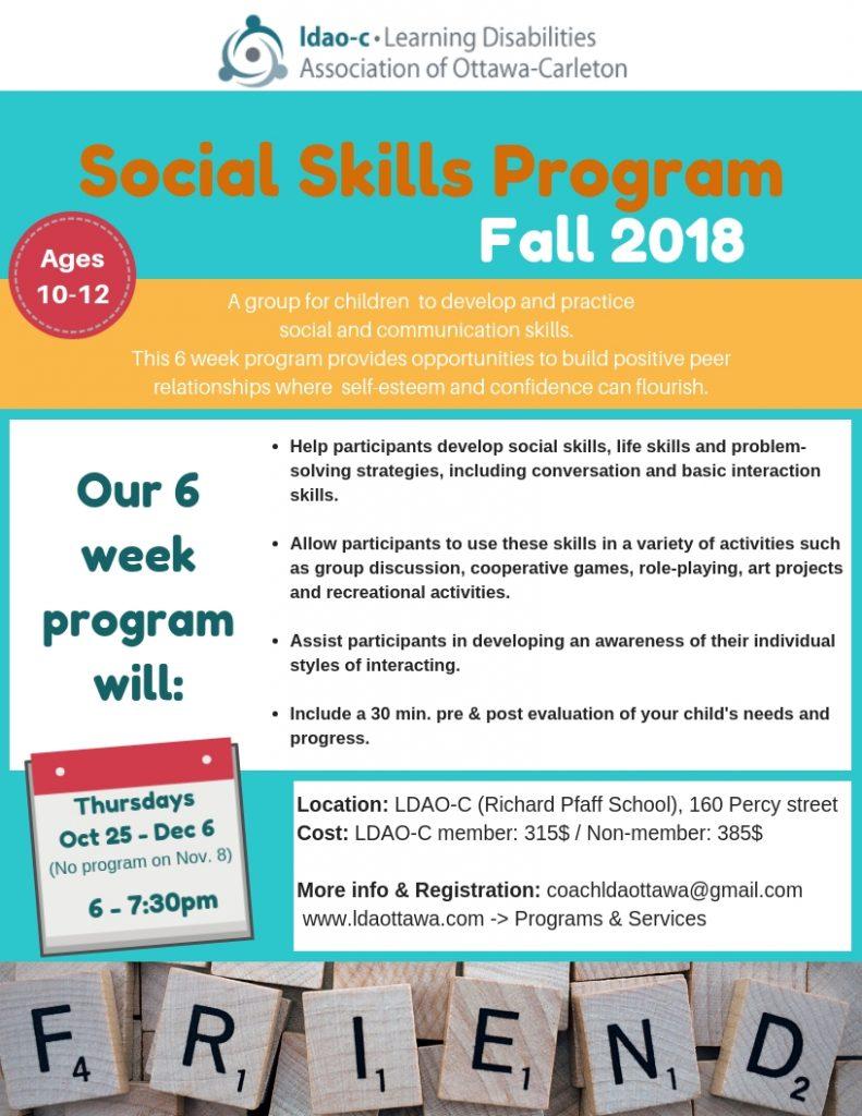 Social Skills Development for Children – LDAO-C Learning